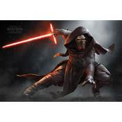 Star wars movie poster feature kylo Ren, poster size is 26 x 32 inches
