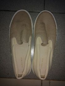 Beige Zara Slip-ons for Men size 40 used only once for sale in Dubai