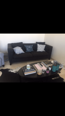 Black Couch in Perfect Condition at Great Price from THE ONE