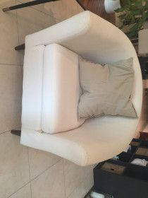 Two Beige IKEA Chairs for Sale in Perfect Condition (AED 250/chair)