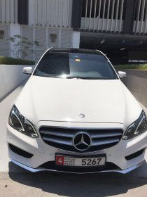 2014 300 E Mercedes Benz AMG KIT for sale in Abu Dhabi , Full option