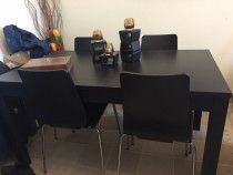 Dining Table - Extendable (+4 chairs) Dark Brown