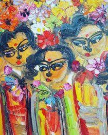 Large Oil Painting - Bali Originated - Beautiful!
