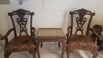Brown Chairs with tabke for very very Urgent sale .. price negotiable