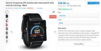 Garmin Vivoactive GPS Touchscreen Smartwatch with Activity Tracking - Black (un
