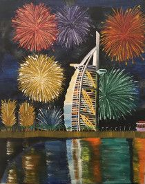 Burj al Arab: original handmade oil painting on canvas