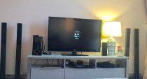LG LCD + LG DVD full HD HDMI USB + 6 speakers