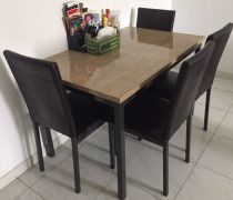 Dining Table with four chairs is for sale