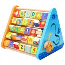 Five Side Learning Shelf - sketchpad, the alphabet turning plate, abacus, clock