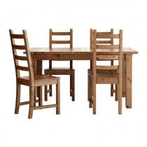 IKEA Stornas extendable dining table and four matching chairs
