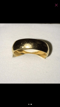 18k real gold ring.. approx 1.80g ... wedding ring