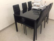 Dining table available for sale clean and well maintained with 6 chairs