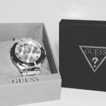 Silver Guess Wrist Watch For Sale - 400 AED Urgent
