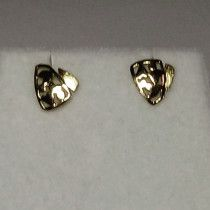 Heart Shape Earrings - Gold Plated - For Sale