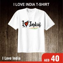 I Love India printed unisex cotton T-shirt