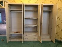 Italian 6 door wardrobe with drawers and locks