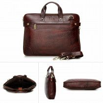 Genuine leather  laptop bag. Good For carrying laptp and office documents easily