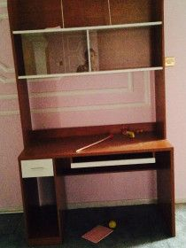 Fresno desk with hutch and slider door with 1 drawer bought from home centre