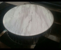 Round Marble coffee table with Chrome Base