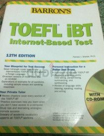 TOEFL IBT book 12th edition, BARRON'S...