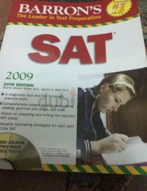 SAT book 2009 24th edition from BARRON's