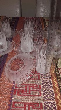 Crystal tea cup patterned design and very light for sale in Sharjah
