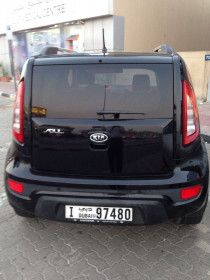 KIA Soul 2.0L Model Year 2012 Black Exterior Color with Red Trim Interiors