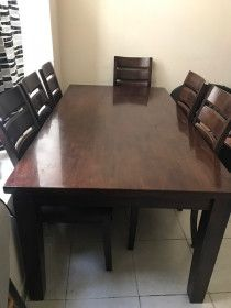 6 chair  Dining Table for sale 1 year used good condition