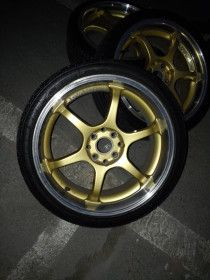 Rims deepdish 17 inch brass gold color with silver lipping