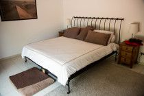 King Sized Memory Foam Mattress and Handmade Iron Bed