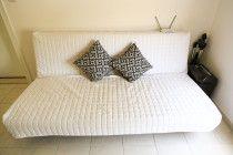 Sofa that turns into a futon sleeper