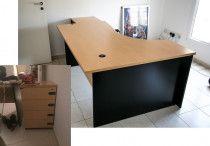 Wooden Desk with Drawer Set