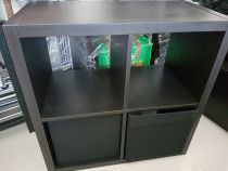 Black Ikea Table/Shelves with 2 pullouts