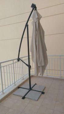 Balcony umbrella / Outdoor umbrella with lights