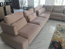 Beige, comfortable sofa for sale due to relocation