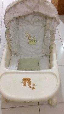 Juniors Beige Baby Swing Bed & Chair
