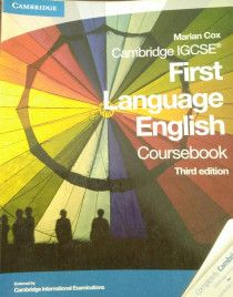 3 Cambridge IGCSE books for sale- Physics, Chemistry and English
