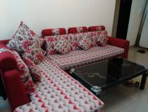 L SHAPE, 5 SEATED, REMOVABLE BOTTOM AND BACK, WITH CUSHIONS, BRAND NEW CONDITION