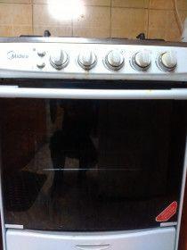 4 top Burners + Grill Burner Gas Cooker, MIDEA MAKE, EXTENDED WARRENTY