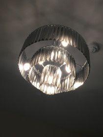Beautiful grey glass chandelier for sale in Dubai