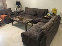 6 Seater Sofa Set (3 + 2 + 1 Seats) Brown Color - DH 1200 for sale in Dubai