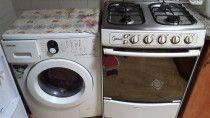 Kitchen Items; Fridge, Washing machine and Gas Stove 4 burner are on sale