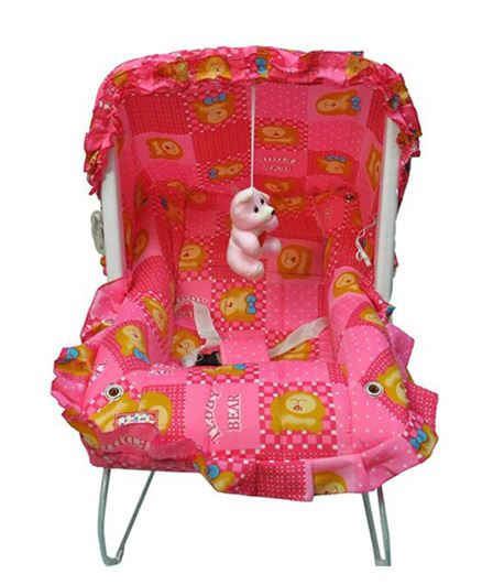 Funride 9 In 1 Carry Cot Giraffe Print - Pink