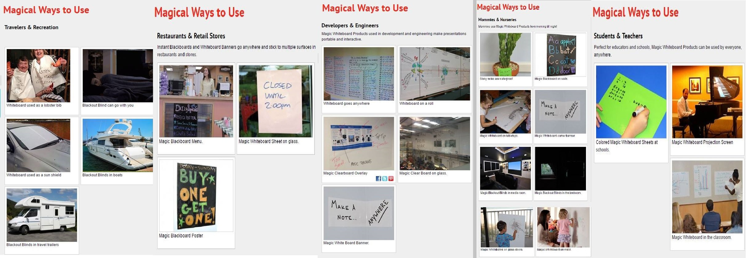 Recycle-Reduce-Reuse MAGIC WHITEBOARD