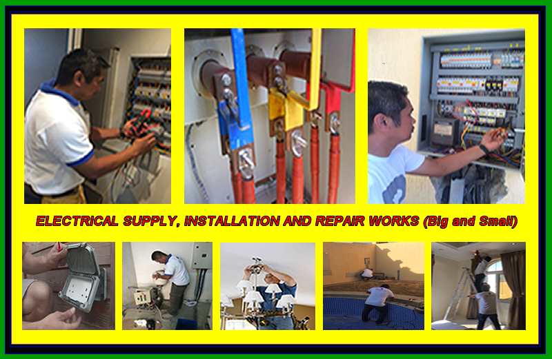 Electrical works and other services