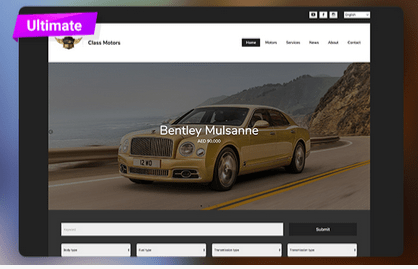 Auto Dealer Theme on Storat.com