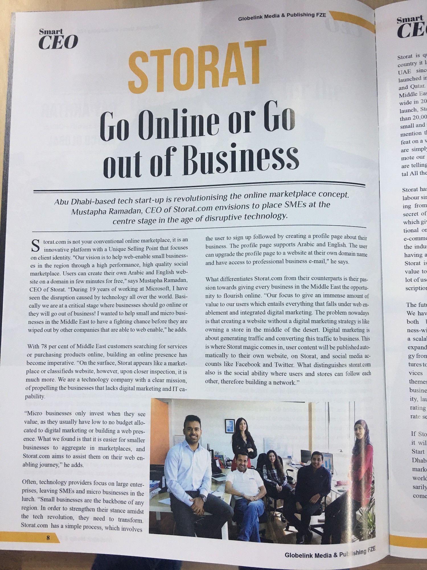 Storat.com - Go online or Go out of Business
