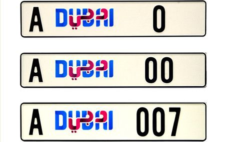 VIP Number Plates for Sale in Dubai